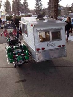 It's been a while since we've shown you very special motorcycle sidecars. Sidecars on their own are special already, but sometimes the owners go a few steps further in customizing their rides. Of course many have changed their sidecar to be Mini Camper, Car Camper, Camper Trailers, Micro Campers, Rv Campers, Travel Trailers, Scooters, Motorcycle Campers, Motorcycle Memes