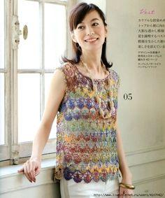 1 (583x700, 283Kb) Crochet Shirt, Crochet Bikini, Crochet Top, Crochet Fashion, Rubrics, Sweaters, Cardigans, Knitting, Lace