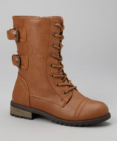 Look at this Link Tan Mango Boot on #zulily today!