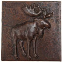 """TL995 - 4"""" x 4"""" Moose Copper Tile"""