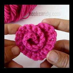 Ravelry: Spiral Rose Heart pattern by Hook Candy