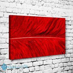 Kırmızı Yaprak Doku Tablo #dekoratif_kanvas_tablo