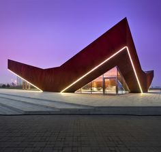 Vanke Triple V Gallery pavilion in Tianjin, China, by Singapore studio Ministry of Design.