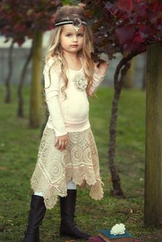Dollcake Clothing - Out And About Top Crochet Skirt (Fully Lined) Fall 2012