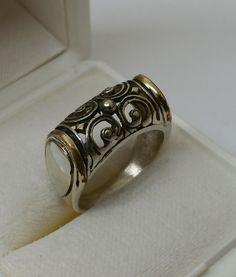 Vintage Ringe - Nostalgischer Ring Silber 925 teilvergoldet SR719 - ein Designerstück von Atelier-Regina bei DaWanda