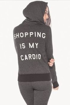 shopstyle.com: Wildfox Couture Shopping is My Cardio Track Suit Jacket in Clean Black