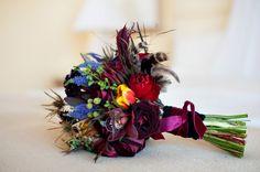 moody, jewel-toned bouquet
