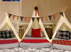Upcountry Camp offers luxury tent and teepee rentals for parties, sleepovers and camping in and around Mississippi. A Frame Tent, Bed Frame, Canvas Teepee, Teepee Party, Indoor Camping, Go Glamping, Luxury Tents, Girl Themes, Sleepover Party