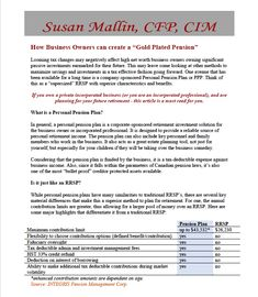 Financial advisor Susan Mallin reviews PPPs in this article. Pension Plan, Net Worth, Self, How To Plan