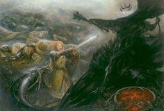 acicueta:  Eowyn and The Nazgul - Matthew Stewart