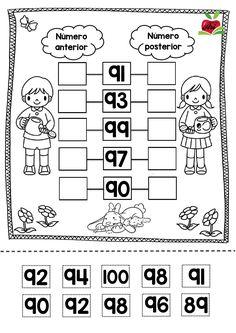 Fichas de matemáticas para aprender los números ordinales