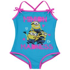 Girls Official Despicable Me Minions Swimming Costume