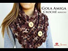 YouTube Crochet Blouse, Crochet Scarves, Crochet Baby, Knit Crochet, Crochet Neck Warmer, Caron Simply Soft, Knitting Accessories, Head Wraps, Chevron