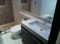 Distintos estilos en muebles y mosaicos para el baño http://blgs.co/rP6DV9