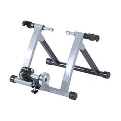 Soozier Indoor Kinetic Bike Trainer Exercise Cycling Resistance Stand - Silver Regardless of the weather outside, you can stay in shape with your own bike! Spinning, Indoor Bike Trainer, Indoor Workout, Wheels And Tires, Sport Bikes, Trainers, Bicycle, Tire Size, Weather