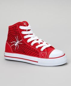 Take a look at this Red Tarantula Hi-Top Sneaker by Animal Planet on #zulily today!