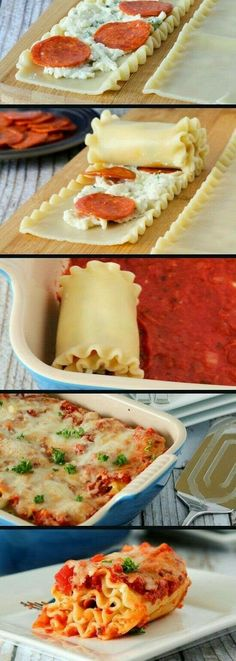 pepperoni pizza lasagna roll ups - pepperoni lasagna roll ups ; pepperoni lasagna roll ups easy recipes ; pepperoni pizza lasagna roll ups ; lasagna roll ups with pepperoni ; pepperoni pizza lasagna roll ups pioneer woman Pizza Lasagna, Lasagna Rolls, Pizza Rolls, Lasagna Noodles, Lasagna Casserole, Cheese Lasagna, Hamburger Casserole, Rice Noodles, Zucchini Noodles