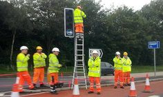 It takes SEVEN road workers to change a lightbulb