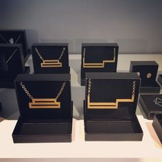 Get your own WeFab necklace at @poush.nl concept store #retail #studiowefab #3dprinting #coneptstore #poush #wassenaar #gold #jewelry #lasercut #3dprint #3dprinted #technology #wood #store #minimal #geometric #ultimaker by studiowefab