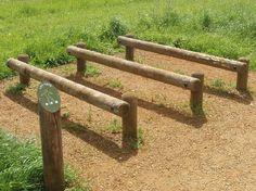 wooden outdoor gym equipment