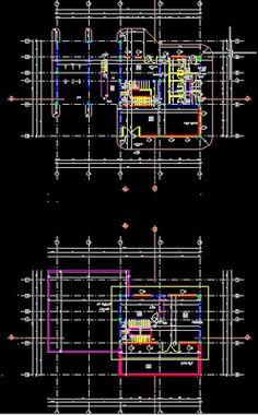 Plan Autocad d'une station service dwg | Génie civil et Travaux Publics…