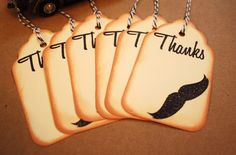 Gift Tags Thanks Mustache Tag Set Vintage by asweetlittlenote, $4.50