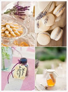 Favours - Decoration For Home Mediterranean Wedding, Provence Wedding, Macaron, Gourmet Recipes, Favors, Dishes, Table Decorations, Bottle, Honey