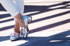 HallieSwanson Miu Miu Silver Bow Shoes, LUBLU Blouse, JCrew Jeans, Zara Pink Jacket_2