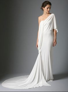 grecian dress, I wouldn't want this as my wedding dress but its definitely unique