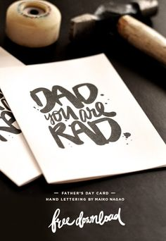 Typography / Maiko Nagao: DAD you are RAD Father's day card