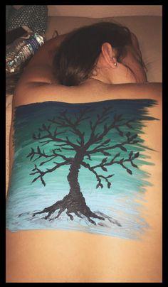 Back painting  Body art