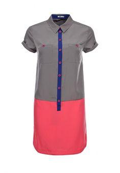 Платье People женское. Цвет: серый. Сезон: Весна-лето 2014. С бесплатной доставкой и примеркой на Lamoda. http://j.mp/1o0LHt7