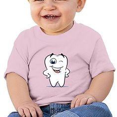 Lennakay Work Baby Smile Of Cute Tooth-chan Round Collar Casual T Shirts 6 M -- Check this awesome product by going to the link at the image.