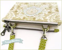 ScrapBusters: Companion Pouches   Sew4Home - such a cool little bag!