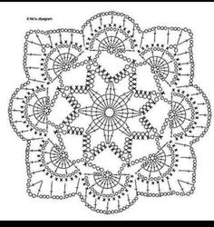 Crochet Motif Patterns, Christmas Crochet Patterns, Crochet Blocks, Crochet Snowflakes, Granny Square Crochet Pattern, Crochet Diagram, Crochet Chart, Crochet Squares, Thread Crochet