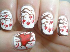 Uñas decoradas de San Valentín –  Love Nails. #Nails #Love #ValentiDay