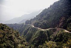 Carretera de la Muerte en Bolivia, region de Yungas