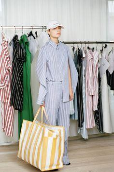 Balenciaga Resort 17 Fashion / Women / Stripes / Bag / XXL / Volumes / Cap / Fashion Week / Yellow / Accessories