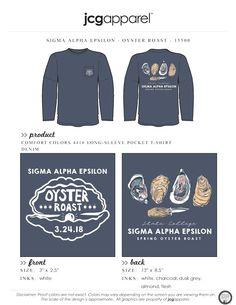 Sigma Alpha Epsilon Oyster Roast Shirt   Fraternity Oyster Roast   Greek Oyster Roast #sigmaalphaepsilon #sae #oyster #roast #shuck #handdrawn