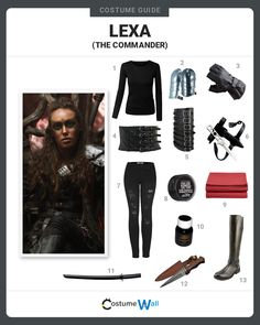 The best cosplay guide for looking like Commander Lexa, the uniter and leader of the 12 grounder clans from the post-apocalyptic TV show The 100.