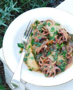 Раня - Молодые маленькие осьминоги с картошкой