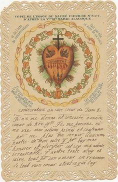 A copy of St. Margaret Mary's  original drawing of the Sacred Heart
