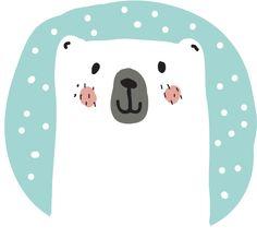 Polar Bear Snowtime Art Print