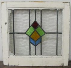 Vintage geometric stained glass window