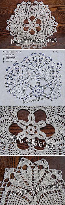 Вязание крючком | Простые схемы. Экономим время на Постиле Crochet Doily Patterns, Crochet Diagram, Crochet Chart, Filet Crochet, Crochet Motif, Crochet Doilies, Crochet Flowers, Crochet Stitches, Knitting Patterns