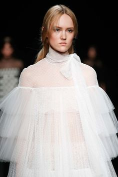 Poetic perfection in point d'esprit at Valentino - Fall 2015.