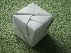 ▶ Origami Tutorial: Origami Cube(Sonobe) - YouTube easy to follow cube instructions