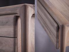 Evolution in Wood Design - Working Desks Custom Made Furniture, Solid Wood Furniture, Furniture Making, Furniture Design, Writing Desk With Drawers, Work Desk, Wood Design, Interior Decorating, Artisan