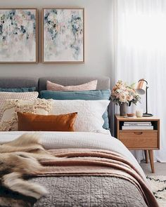 Awesome Fresh Master Bedroom Ideas For Your Home Bedroom Decoration master bedroom decor Farmhouse Master Bedroom, Cozy Bedroom, Home Decor Bedroom, Bedroom Ideas, Bedroom Furniture, Bedroom Colors, Bedroom Ceiling, Bedroom Brown, Budget Bedroom
