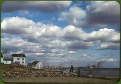 *Connecticut town on the sea. Stonington, Connecticut, November 1940. Reproduction from color slide. Photo by Jack Delano. Prints and Photographs Division, Library of Congress